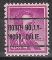 Locals USA Precancel Vorausentwertung Preo, Locals California, North Hollywood 258 - Precancels