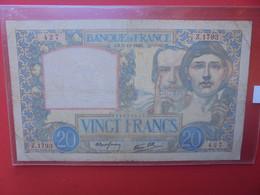 FRANCE 20 FRANCS 1940 Circuler (B.22) - 20 F 1939-1942 ''Science Et Travail''