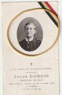 ARMEE BELGE - Jules Dubois - Maréchal De Logis, Mort Pour La Patrie - Guerre 1914 - 1918 - Obituary Notices