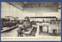 CPA PAS-DE-CALAIS (62) - MINES DE LENS - SALLE DES MACHINES D'UNE FOSSE N° 11 - COMPRESSEURS HAUTE PRESSION, TABLEAU - Lens