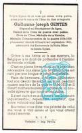 DP Victime Guerre Oorlog 40-45 Bataille Des Ardennes - Caporal Guillaume J. Genten ° Wathermal Beho † Courtil Gouvy 1945 - Andachtsbilder