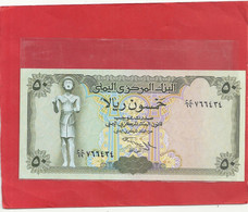 CENTRAL BANK OF YEMEN  -  50 RIALS . UNC - 2 SCANES - Yemen
