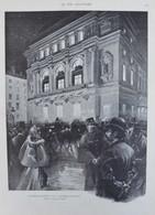 L'inauguration De L'opéra-comique - Page Originale 1898 - Documents Historiques