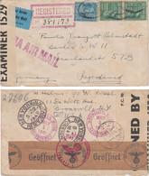 USA 1941, Airmail, Registered Mail, Zensurbrief Bronxville NY / Berlin SW II - US.- Und Wehrmacht-Zensur, Viele Stempel! - Covers & Documents