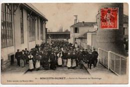 BISCUITS OLIBET-Sortie Du Personnel De L'Emboitage - Publicidad