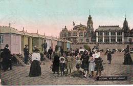 Oostende - Ostende,  Strand - Plage, Casino Kursaal, Strand Cabines, Cabines De Plage.1912, ( Engis ). - Oostende