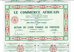 SENEGAL. COMMERCE AFRICAIN. LE ...   1956 - Sonstige