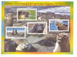 TAAF Neuf Luxe ** Bloc Feuillet N°19 éléphant De Mer Terres Australes Antarctiques Françaises - Blocks & Sheetlets
