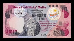Malta 10 Liri / Pounds L.1967 (1979) Pick 36b SC UNC - Malta