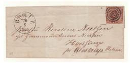 1860 -- DANEMARK -- 4 Skilling Sur Lettre De BORUP  Du 10/08/1860 Annulée D'un Cachet Muet. Certif. NIELSEN -- - Briefe U. Dokumente