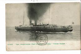 CPA Carte Postale Belgique-Ostende Départ Du Paquebot Princesse Elisabeth 1908 VM30534 - Oostende
