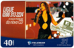 BRASIL L-901 Magnetic Telemar - Musician, Daniela Mercury - Used - Brasil