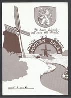 "QSL, Netherlands, Windmills ""Wooden Shoes"", 1985. - Radio Amateur"