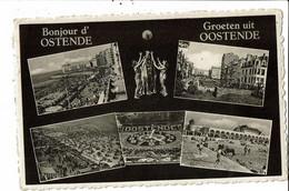CPA Carte Postale Belgique-Ostende Bonjour D'Ostende Multi Vues 1958 VM30535 - Oostende
