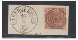 1856 -- DANEMARK -- 4 Skilling Sur Fragment  -- BAHNHOF HUSUM 25/08/1856 -- Stumt Stpl-- Caché Muet -- - Briefe U. Dokumente