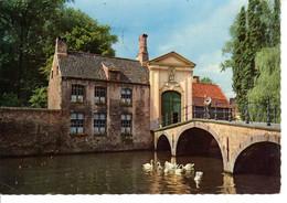 Belgique Bruges Brugge Ingang Begijnhof Entrée Du Beguinage Delalande Tours Pont Cygnes Batiment Edifice Histoire - Brugge