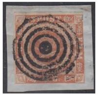 1854 -- DANEMARK -- 4 Skilling Sur Fragment  -- Stumt Stpl-- Caché Muet -- - Briefe U. Dokumente