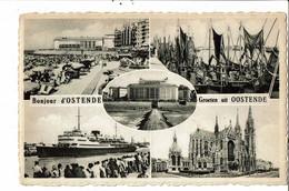 CPA Carte Postale Belgique-Ostende Bonjour D'Ostende Multi Vues 1957 VM30536 - Oostende