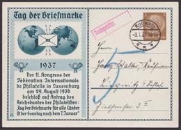 """PP 122 C 35/02 """"Tag Der Briefmarke"""", 1937, Bedarf Mit Nachgebühr - Postwaardestukken"""