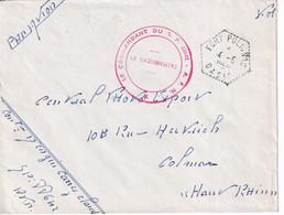 GUERRE D'ALGERIE - 1959 - ENVELOPPE FM Par AVION De FORT POLIGNAC OASIS ! CACHET HEXAGONAL ! - Oorlog In Algerije