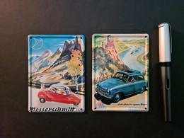 2 Mini-Blechreklameschilder Messerschmidt Und Lloyd (neu) - Plaques En Tôle (après 1960)