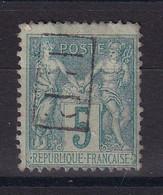 D 160 / SAGE N° 75 OBL / CACHET PP - 1876-1898 Sage (Type II)