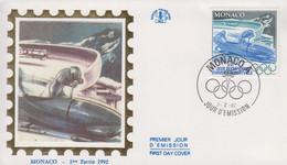 Enveloppe  FDC   1er  Jour   MONACO   Jeux   Olympiques   D' ALBERTVILLE    1992 - Invierno 1992: Albertville