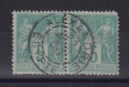 D 160 / SAGE N° 75 PAIRE OBL / CACHET ALEXANDRIE - 1876-1898 Sage (Type II)