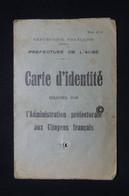 FRANCE - Carte D'Identité Délivrée En 1939 à Troyes  -  L 96440 - Sammlungen