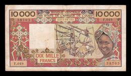 West African St. Mali 10000 Francs 1981-1992 Pick 408Dg BC/MBC F/VF - Mali
