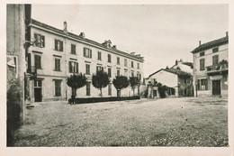 Cartolina - Conzano Monferrato - Piazza Del Municipio - 1930 Ca. - Alessandria