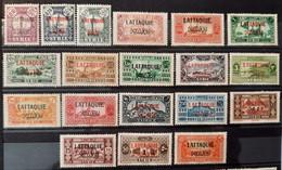 Lattaquié 1931/33 N°1/19  * TB Cote 216€ - Unused Stamps