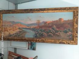 Peinture Signée De Constant Louche (1880-1965) - Paysage Aurès, Algérie - Toile 49x139,5 - Voir Description - Other