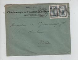 REF4058/ TP 164(2) Perron S/L. Charbonnages De L'Espérance Montegnée C.Liège 1921 > Suisse - Storia Postale