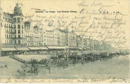 OSTENDE : La Plage. Les Grands Hôtels - Oostende