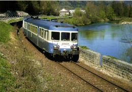 Vaux Les St Claude (39) Le Train Lyon Perrache St Claude ( X2810 Et XR 6045) Longe La Bienne RV - Otros Municipios