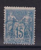 D 162 / SAGE N° 90 OBL / CACHET BLEU - 1876-1898 Sage (Type II)
