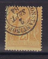 D 162 / SAGE N° 92 OBL / CACHET CONSTANTINOPLE - 1876-1898 Sage (Type II)