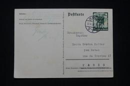 ALLEMAGNE - Entier Postal De Propagande De Köln Pour Paris En 1938  -  L 96462 - Ganzsachen