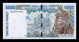West African St. Mali 5000 Francs 1995 Pick 413Dc SC UNC - Mali