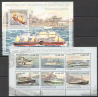 XX628 2009 MOCAMBIQUE SHIPS HISTORIA DO TRANSPORTE MARITIMO 3 1SH+1BL MNH - Ships