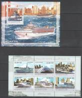 XX631 2009 MOCAMBIQUE SHIPS HISTORIA DO TRANSPORTE MARITIMO 6 1SH+1BL MNH - Ships