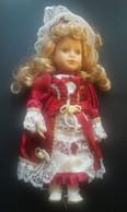 Bellissima Bambola Vintage Con Vestito Da Dama 32 Cm Ca. (245) Come Da Foto - Poupées