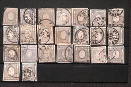 Regno - Vittorio Emanuele II - 1861 - 1 Cent (19) - Cartoncino Con 22 Pezzi Di Colori Diversi - Da Esaminare - Non Classificati