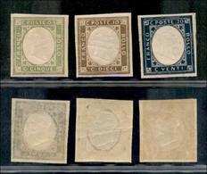 Regno - Vittorio Emanuele II - Province Napoletane - 1861 - Non Emessi (1/3) - Gomma Originale (90) - Non Classificati