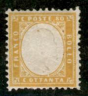 Regno - Vittorio Emanuele II - 1862 - 80 Cent (4) - Discreta Centratura - Gomma Integra - Non Classificati