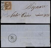 Regno - Vittorio Emanuele II - 30 Cent De La Rue (19) Isolato Su Testatina Di Lettera Da Palermo A Cefalù Del 21.4.64 -  - Non Classificati