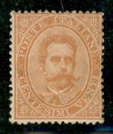 Regno - Umberto I - 1879 - 20 Cent Umberto (39) - Gomma Integra - Punto Giallo Sulla Dentellatura In Alto - Non Classificati
