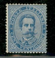 Regno - Umberto I - 1879 - 25 Cent Umberto (40) - Gomma Integra - Piega Diagonale - Non Classificati