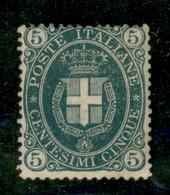 Regno - Umberto I - 1889 - 5 Cent Stemma (44) - Gomma Originale Con Invisibile Traccia Di Linguella - Non Classificati